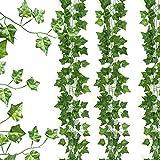 Gwhole 2.2M Pianta Artificiale Edera Rampicante Ghirlanda Pianta Artificiale Fiori Esterne Festa di Matrimonio Decorazione della Parete di Giardino(12PCS)