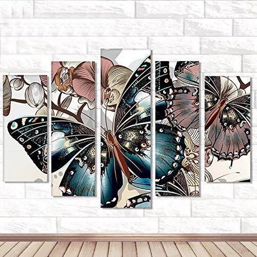 Riou DIY 5D Diamant Painting Voll,Stickerei Malerei Crystal Strass Stickerei Bilder Kunst Handwerk für Home Wand Decor Gemälde Kreuzstich Festlich Weihnachten 5PCS (Mehrfarbig C, 5PCS)