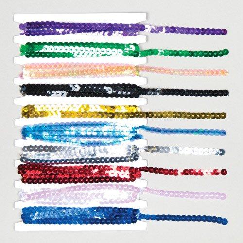 Cordini di paillette in 10 colori assortiti, ideali per realizzare