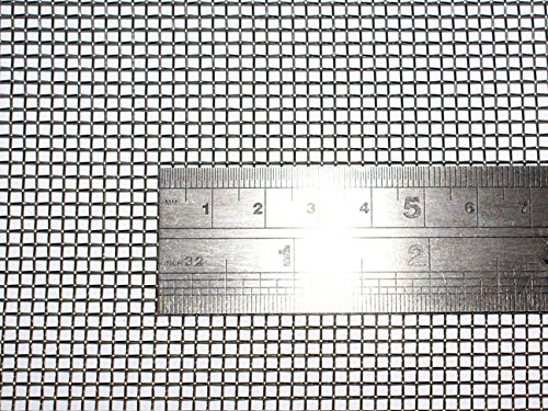 Geflochtenem Draht 10 Mesh 60 cm x100 cm x2 mm grob, Gaze Edelstahl 304L 61% Offene Bereich