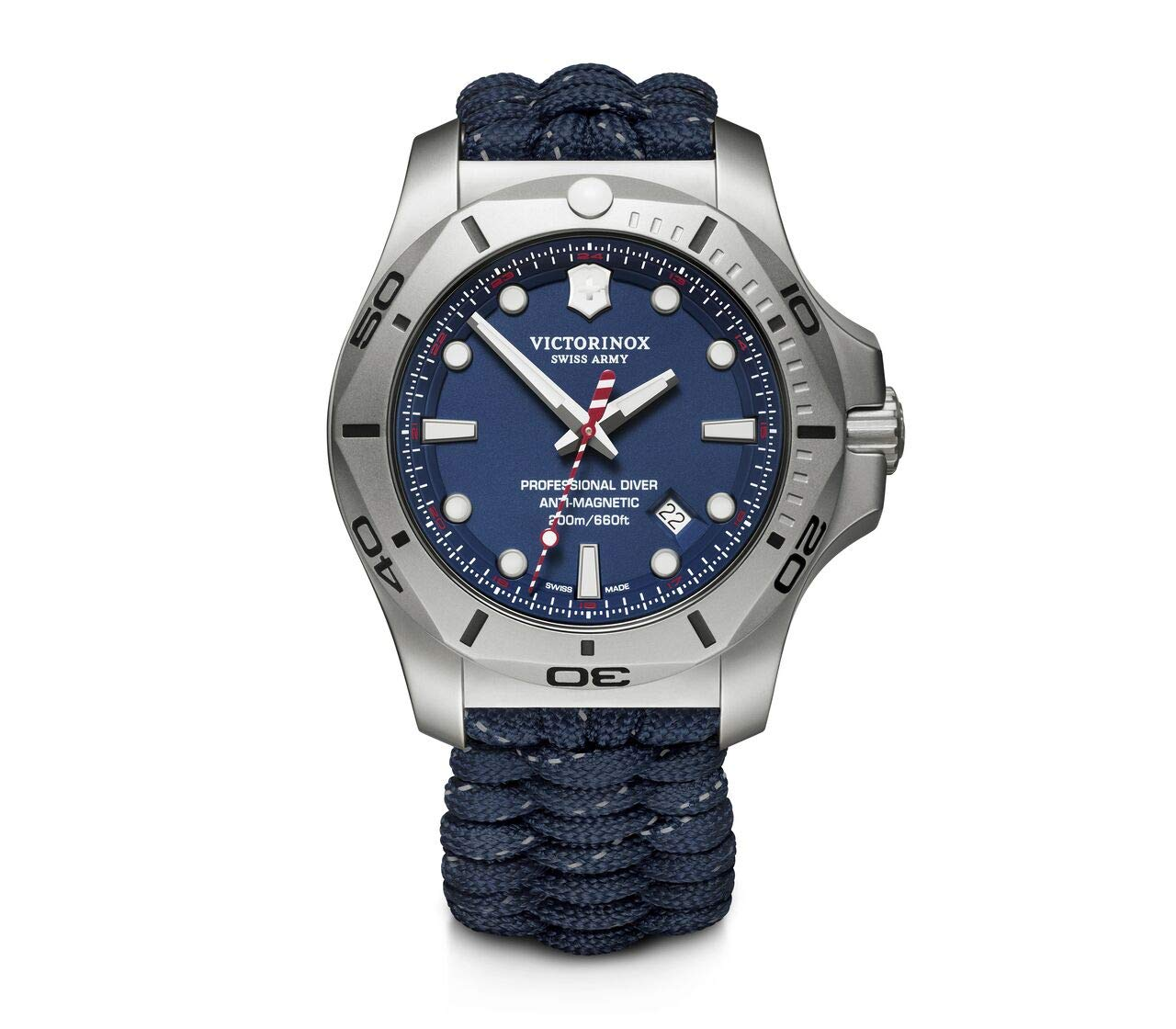 Victorinox Men's I.N.O.X. Professional Diver – Swiss Made Analogue Quartz Stainless Steel Watch 241843