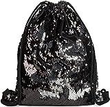 styleBREAKER borsa sportiva hipster con paillettes, zaino, borsa sportiva, bauletto, unisex 02012210, colore:Nero / Argento