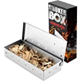 BBQ Smoker Box, BBQ Smoking Box for Smoking Chips and Wood Smokers, Gas BBQ Smoker Box, Meat Smokers, Stainless Steel…