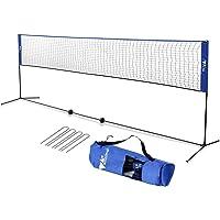 amzdeal Badminton Netz 4.2m / 5.1m Tragbares Volleyball- und Tennis- Netz mit Verstellbaren Höhen faltbares…