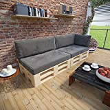 MSS® Palettenkissen 5er Set Palettensofa Palettenmöbel Kissen Palette Sofa Couch Anthrazit