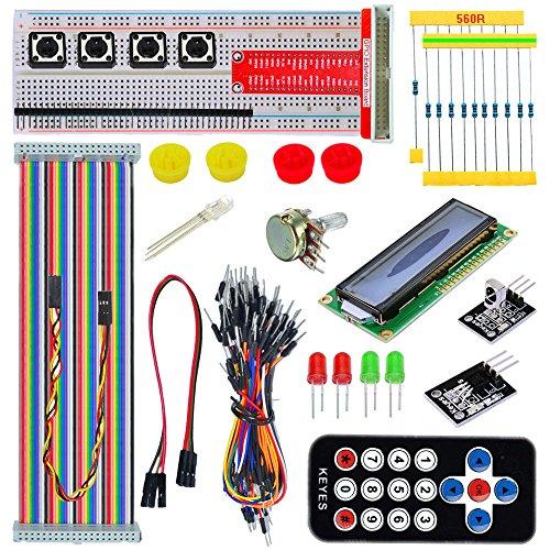 tolako Starter-Set für Raspberry Pi B + 2/3Starter Kit GPIO Pinnwand 1602LCD flach Kabel-Fernbedienung