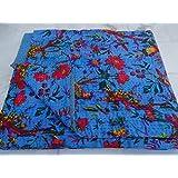 Textiles asiáticos wipods systmall Paisley QUEEN Size Kantha edredón, manta kanthra, cubierta de cama, colcha de matrimonio kanthra, flores de camas tamaño kanthra 228,6 cm x 274,32 cm 1115
