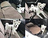 Hunde Sicherheitsgurt, Hepooya Auto SicherhHunde Sicherheitsgurt für Hunde Autogurt-Adapter für höchste Sicherheit, Hundegurt Sicherheitsgeschirr verstellbarem Ruckdämpfer, Nylon 53 bis 90 cm Einstellbar, Passend für alle Hunderassen - 6
