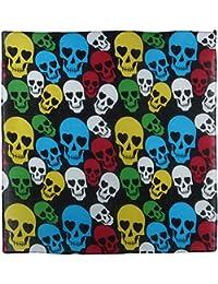 Black Bandana Bandanna Scarf Multi Coloured Skulls & Hearts Eyes Bikers Festival