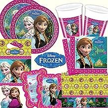 101Juego de * Frozen–La Reina De Hielo * Fiesta de cumpleaños para niños de 6–8niños: platos, vasos, servilletas, invitaciones, bolsas de fiesta, Mantel, globos, aire serpentinas//Fiesta De Cumpleaños Fiesta kinderfest Niños Fete Princesa Disney Princess
