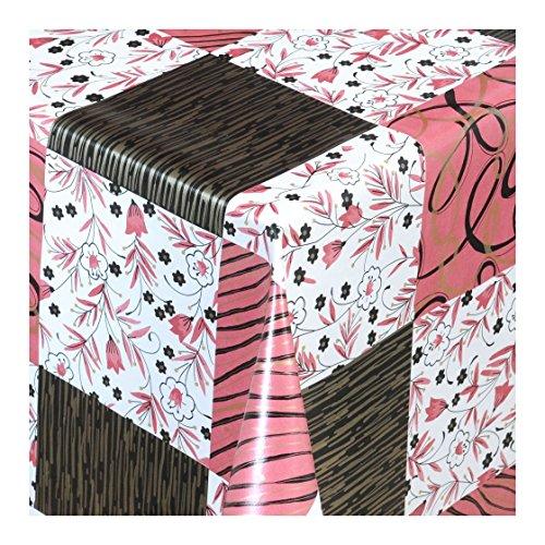 Wachstuch Tischdecke Wachstischdecke Gartentischdecke, Abwaschbar Meterware, Länge wählbar,Festlicher Stil Schwarz Rot Karriert (198-03) 180cm x 140cm