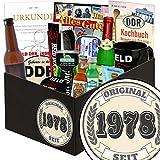 Original seit 1978 | Mann Geschenkbox | Geschenkkorb | Original seit 1978 | Männer Geschenke | Geburtstag Freundin | Geschenke zum 40. Geburtstag Mann | GRATIS DDR Kochbuch