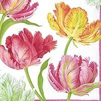 Caspari Tulip Dance Dinner Napkin, Multi-Color