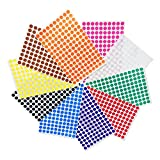 1cm Farbkodierung Etiketten Bundle - 10 Farben, 3000 Etiketten
