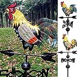 MonLook - Segnavento in Metallo con Gallo, Ornamento per Giardino, Patio