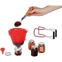 Kitchen Artist MEN338 Kit 7 pièces pour Confiture Maison, Rouge/Transparent
