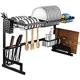 i BKGOO Égouttoir à Vaisselle pour Évier de cuisine 2 niveaux en Acier inoxydable Support d'évier de Séchage de Vaisselle Noi