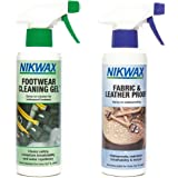 Nikwax Footwear Twin Pack – for cleaning and re-waterproofing your footwear   Footwear Cleaning Gel 300ml  Fabric and Leather
