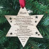 Memory Star Personalised Wooden Christmas Memorial Decoration