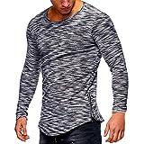 Herren Strickpullover,TWBB Unregelmäßig Pullover Oberteile Sweatshirt Poloshirt Lange Ärmel Shirt Blusen Casual