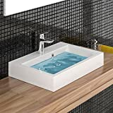 Waschbecken - Waschtisch Handwaschbecken Gussarmor 60 cm Breite Badezimmermöbel Badmöbel