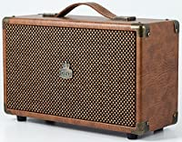GPO Westwood 25 watt Speaker with Subwoofer, RCA input and Bluetooth – Brown