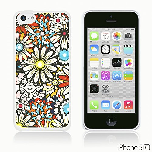 OBiDi - Flower Pattern Hardback Case / Housse pour Apple iPhone 5C - Colorful Flowers With Birds Colorful Sunflower