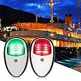 Windy5 2pcs / Set 5W LED Navigation Boot Seitliche Lichter Weiß Gehäuse-Anschluss Steuerbord Links rechts Boot-Lampen-Birnen