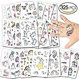 Alintor 325 Pcs Licorne Tatouages Temporaires, Tatouage Ephémères Enfants Cadeau...