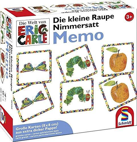 Schmidt-Spiele-40455-Die-kleine-Raupe-Nimmersatt-Memo Schmidt Spiele 40455 Die Kleine Raupe Nimmersatt, Memo und Legespiel, bunt -