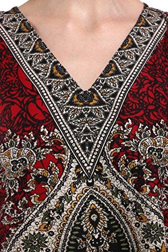 Miss Lavish -  Vestito  - Tunica - Maniche ad ali di pipistrello - Donna Red