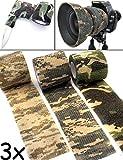 Outdoor Saxx - Camouflage Tarn-Tape   Gewebe-Band Wasserfest Mehrfach verwendbar   Kamera, Ausrüstung, Jäger, Angler, Fotografen   4,5m, 3er Set