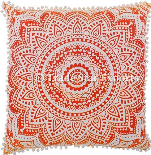 66 x 66 cm Grande housse de coussin Motif mandala coussin de méditation, carré, 100% coton extérieur ethnique