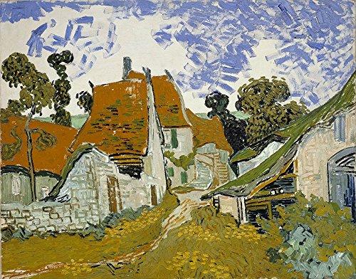 Spiffing Prints Vincent Van Gogh - Street in Auvers sur Oise - Large - Matte Print -