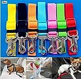 TOOGOO - Cinturón de Seguridad de Coche Para Perros / Cinturón de Nylon para trasportar mascotas