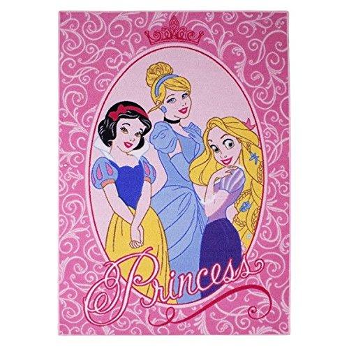 Associated weavers 39 - tappeto per cameretta da bambina, con motivo principesse disney, 95 x 133 cm