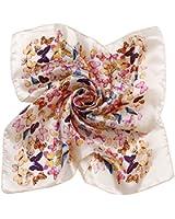 niceEshop(TM) Women's Fashion Printing Mulberry Silk Square Scarf