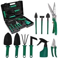 GIOVARA 10 Pieces Garden Tools Set with Carry Case, Garden Gift