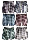 6er Pack Remixx American-Boxershorts für Herren mit trendigen Karos in 100% Baumwolle Größe XL / 7