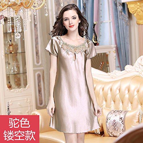 hoom-schlafanzug-damen-nachthemden-mit-kurzen-armeln-aus-seide-seide-dunne-spitze-plus-size-sommer-k