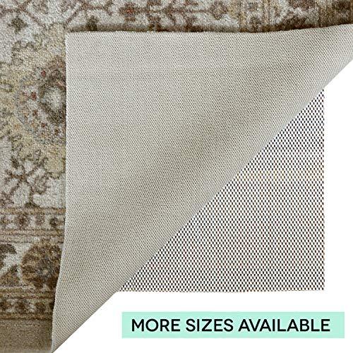Home Essentials Oberfläche Rutschfester Teppich Pad, Cremefarben, 5 x 8-Feet - X Teppich-pad, 5 8