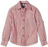 G.O.L. Jungen Hemd Trachtenhemd, Vichy-Karo, Gr. 140, Rot (rot/weiß 7)