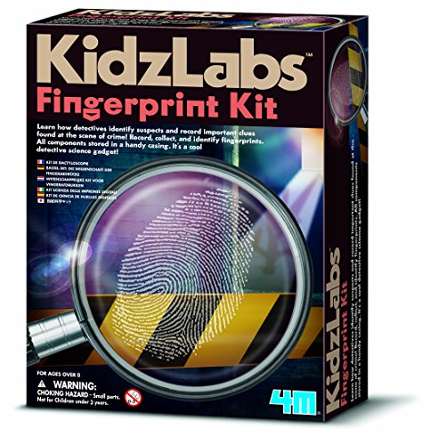 Learn how detectives identify suspects;Record important clues found at the crime scene;Record, collect, and identify fingerprints;Comes with super dusting powder;Suitable for ages 8+