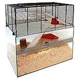 Innovative Glas Terrarium Pet Käfig mit Mesh Seiten–Eine innovative Käfig für Hamster, Mäuse und andere kleine Haustiere