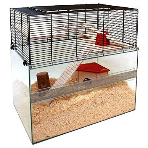 Innovative Glas Terrarium Pet Käfig mit Mesh Seiten-Eine innovative Käfig für Hamster, Mäuse und andere kleine Haustiere (Kleine Käfige Hamster Für)