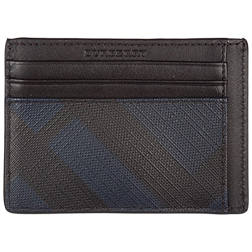 Burberry porta carte di credito portafoglio uomo pelle nero