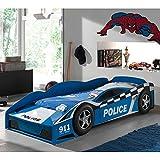 Pharao24 Autobett im Polizei Design Lattenrost