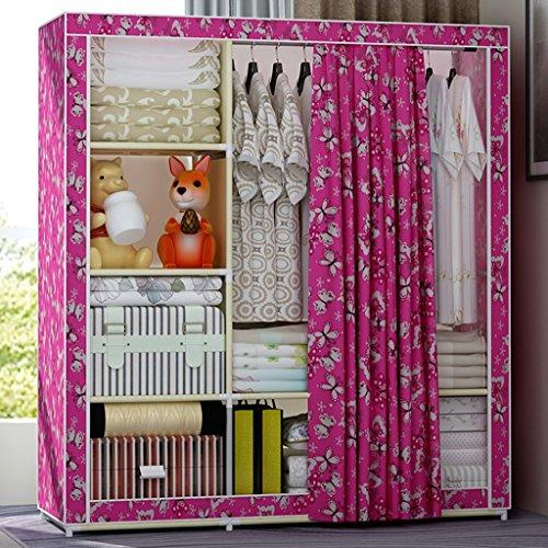MMM& Mode simple, armoire oxford tissu armoire cadre pliant en acier en acier renforcé (couleur : #1)