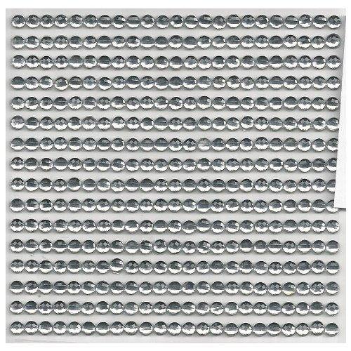 16 Bordüren je 23 selbstklebende Glitzersteine 4mm transparent