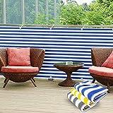 casa pura PVC Sichtschutz Balkon, 90 x 500 cm, in 3 Farben erhältlich-Abdeckung Displayschutzfolie, mehrfarbig